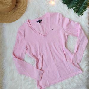 Tommy Hilfiger Cotton V-Neck Pullover Sweater